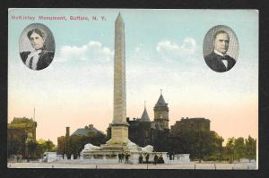 McKinley Monument w/inset pictures Buffalo NY unused c1910