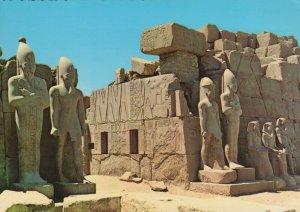 Egypt Postcard - Luxor-Karnak - Pharao Statues By The Seventh Pylon  RRR309