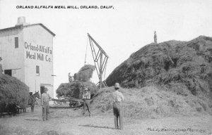 Orland-Alfalfa Meal Mill, California Farming Scene ca 1910s Vintage Postcard