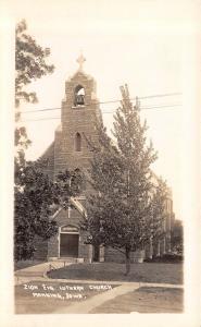 Manning Iowa~Zion Evangelical Lutheran Church~Open Bell Tower~1930s RPPC