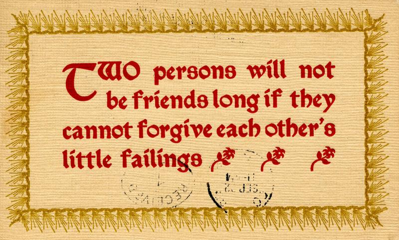 Wisdom - Two persons will not be friends long if