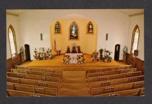 ME Interior View St Anne's Catholic Church Main St LISBON MAINE Postcard PC