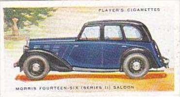 Player Cigarette Card Motor Cars 2nd Series No 33 Morris Fourteen Six Series ...