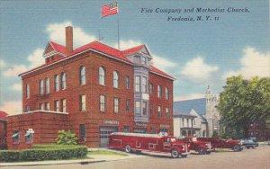 Fire Department and Methodist Church Fredonia New York