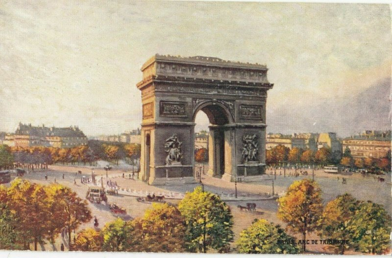 PARIS, France, 1900-10s; Arc de Trumphe ; TUCK 111 No 74