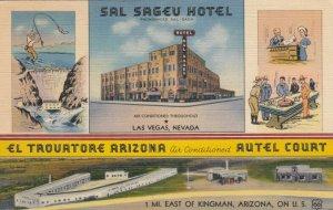 LAS VEGAS, NV, 1942; Sal Sageu Hotel & El Trouatore Arizona Autel Court, RT. 66