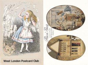 Alice In Wonderland Shop Alices Oxford 2x Advertising Postcard