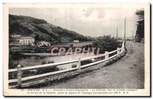 Old Postcard Frontiere France Ririatou The Spanish Bidasoa