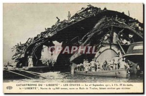 Old Postcard Boat Catastrophe of Freedom wrecks