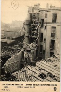 CPA AK LES ZEPPELINS SUR PARIS Cote de maison éboulé (194682)