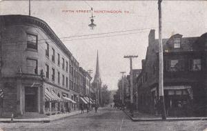 HUNTINGDON, Pennsylvnia, PU-1935; Fifth Street