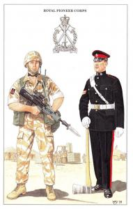Postcard The British Army Series No.76 Royal Pioneer Corps by Geoff White