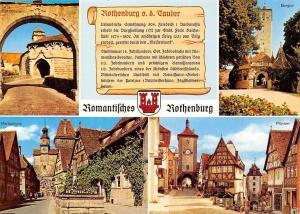 Romantisches Rothenburg, Markusturm, Ploenlein, Burgtor Spitalbastei