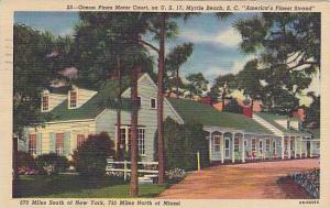 Ocean Pines Motor Court, On U. S. 17, Myrtle Beach, South Carolina, PU-1949