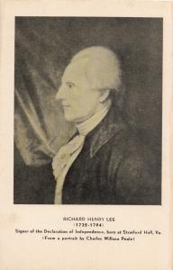 RICHARD HENRY LEE, unused Postcard