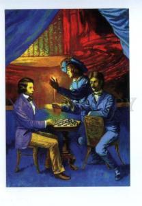 141598 Morphy & Duke of Brunswick & Count Isouard CHESS SANDOR