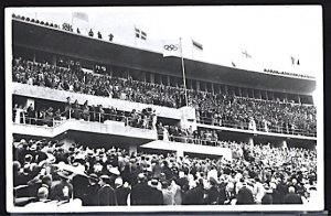 Summer Olympic Games Berlin 1936 Adolf Hitler at the Opening Ceremonies RPPC