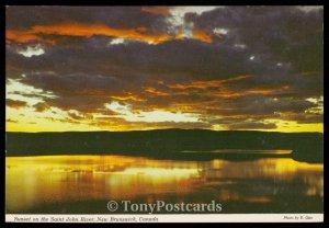 Sunset on the Saint John River, New Brunswick, Canada