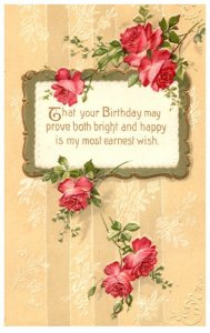 Birthday  ,  Poem, Flowers in a Picture