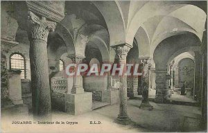 Postcard Old Jouarre Interior Crypt