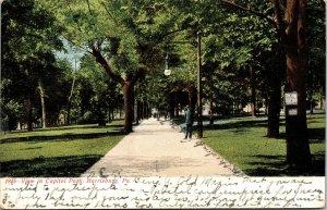 Postcard PA Pennsylvania Harrisburg Capital Park Posted1907
