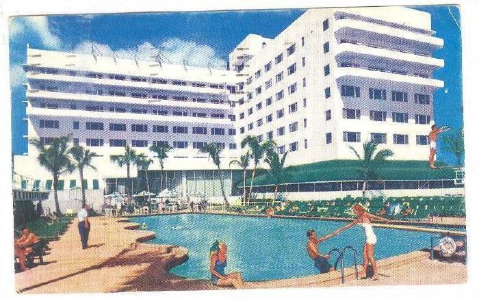 Miami Beach Florida Pu 1957 Sans Souci Hotel