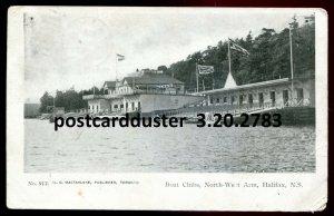 2783 - HALIFAX NS Postcard 1906 North West Arm Boat Clubs by MacFarlane