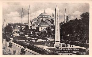 Turkey Old Vintage Antique Post Card Aya Sofya Muzesi Istanbul 1950