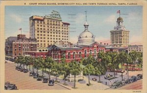 FloridaTampa Court House Square Showing City Hall and Tampa Terrace Hotel 1944