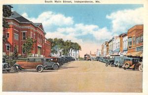 Independence Missouri South Main Street Historic Bldgs Antique Postcard K30140