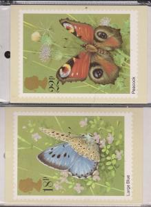 Great Britain Butterfly Stamps On Postcards Unused  - Set Of Stamps Included