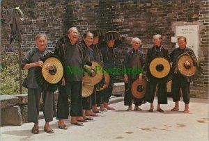 China Postcard - Hong Kong - Village Women Outside Kathing Walled City  RR8864