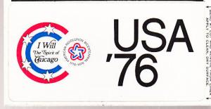US - Chicago Bicentennial Peel and Stick Post Card