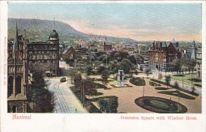 MONTREAL, Quebec, Canada, 1910-1920s; Dominion Square With Windsor Hotel