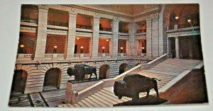 Grand Staircase Manitoba Legislative Building Winnipeg Canada 1950s 1960s