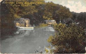Sylvan Beach New York Scenic River View Cabins Rowboats Antique Postcard K11647