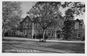 Coevorden Netherlands RHBS Exterior View Real Photo Antique Postcard J80284