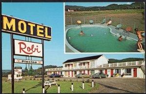 Quebec ~ Hotel Motel ROBI, Les Mechins, Cte. MATANE - Chrome 1950s-1970s