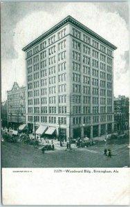 Birmingham, Alabama Postcard Woodward Building Street View c1900s Unused