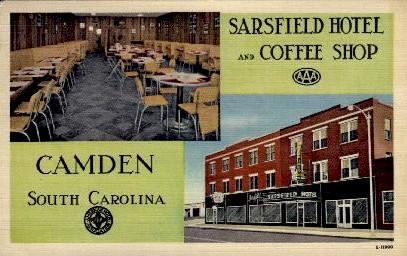 Sarsfield Hotel And Coffee Camden Sc Unused