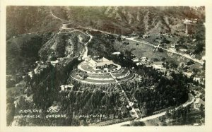Airview California 1930s  Japanese Gardens Hollywood RPPC Photo Postcard 12807