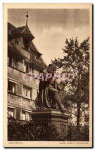 Postcard Old Nurnberg Hans Sachs Denkmal