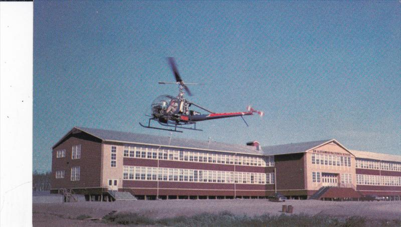 INUVIK , NWT , Canada , 50-60s ; Helicopter at Sir Alexander School