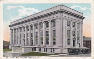Virginia Danville Municipal Building 1940 Curteich