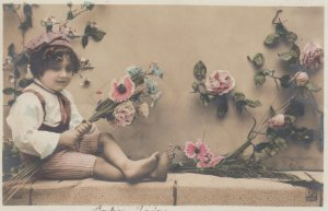 RP: Child holding Flowers , 00-10s
