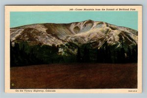 Victory Highway CO, Crater Mountain, Berthoud Pass, Chrome Colorado Postcard