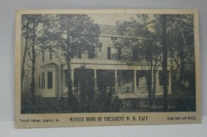 Postcard Winter Home of President W.H. Taft  - used 1909 RARE Good condition