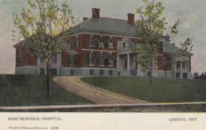 LINDSAY , Ontario, Canada, 1906 ; Ross Memorial Hospital