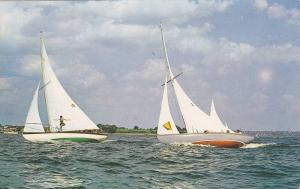 Sailing,  Larder Lake,  Ontario,  Canada,  40-60s