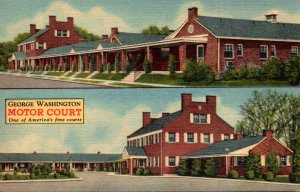 Virginia Fredericksburg George Washington Motor Court Curteich